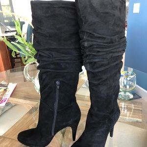 Bandolino knee high suede boots, NEW, size 8